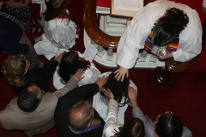 Laying on of hands confirmation